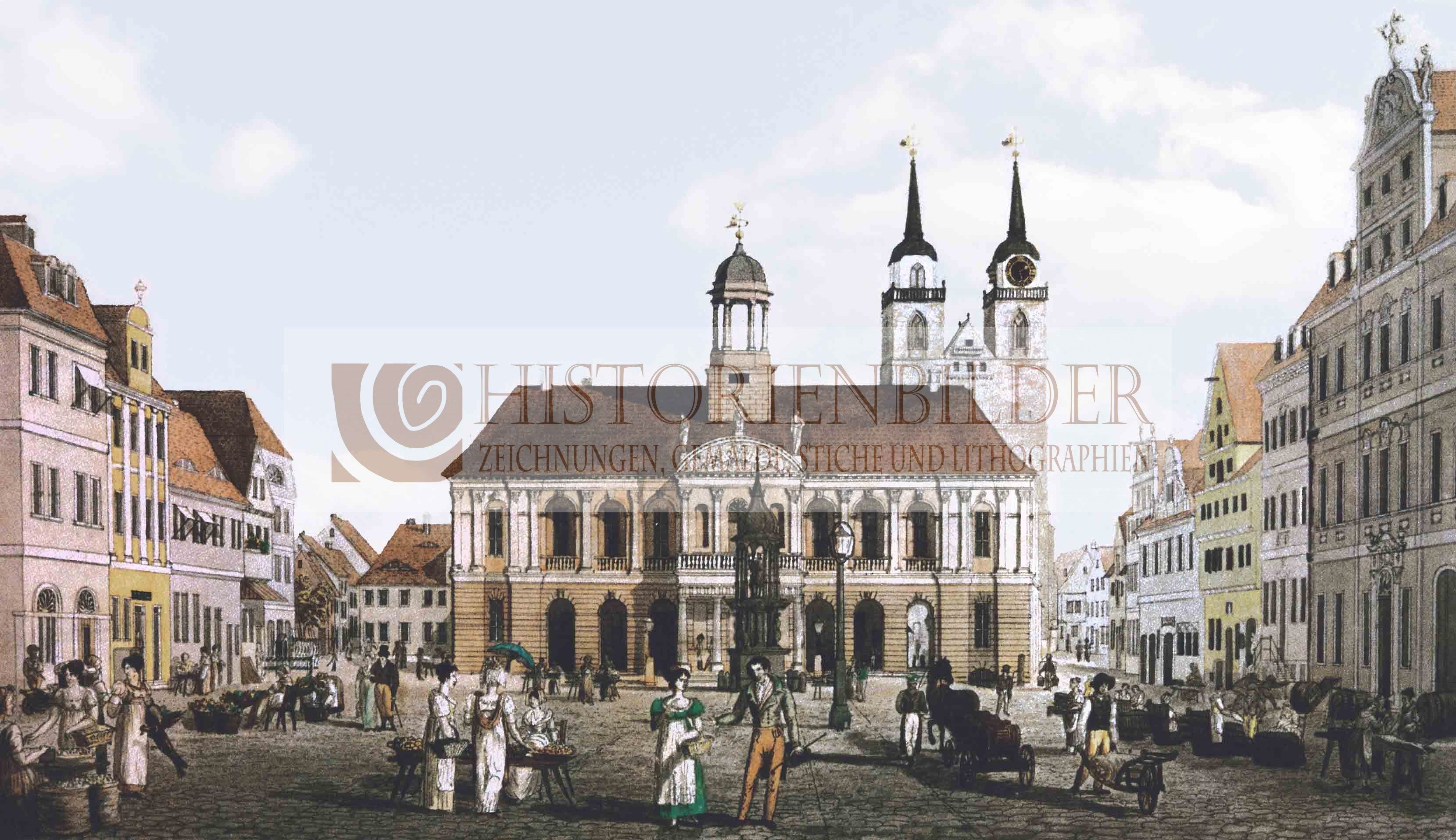 magdeburg alter markt im 19 jh historienbilder. Black Bedroom Furniture Sets. Home Design Ideas
