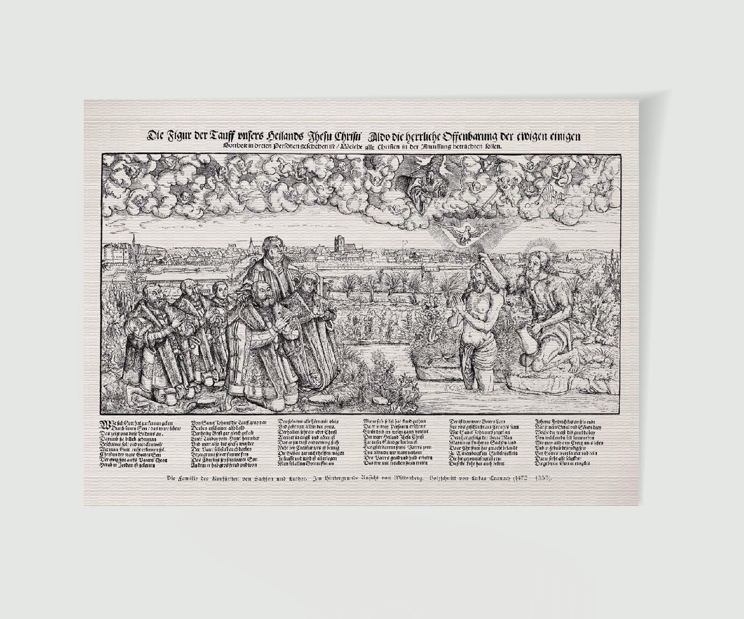 Martin Luther Wittenberg Taufe Jesu mit Luther - Historienbilder