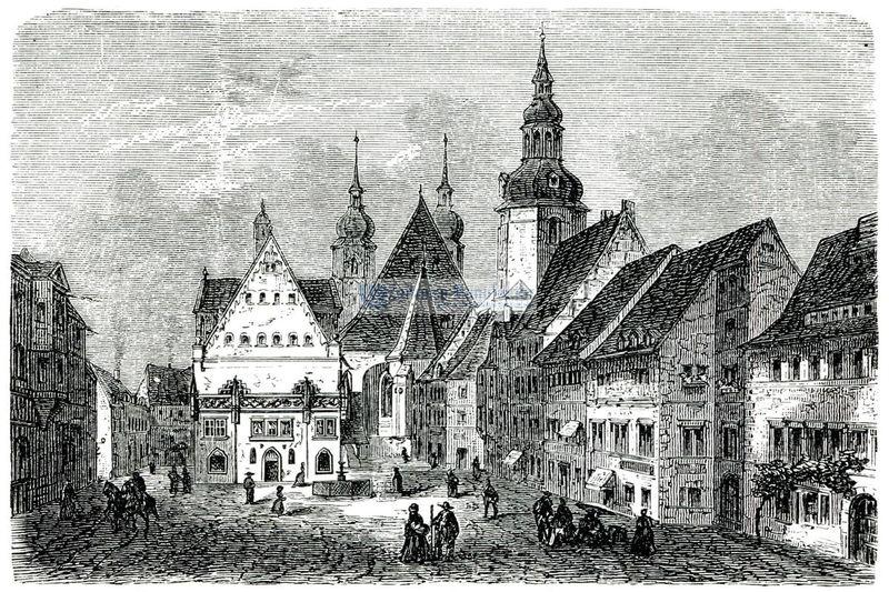 Eisleben Stadtansicht Marktplatz