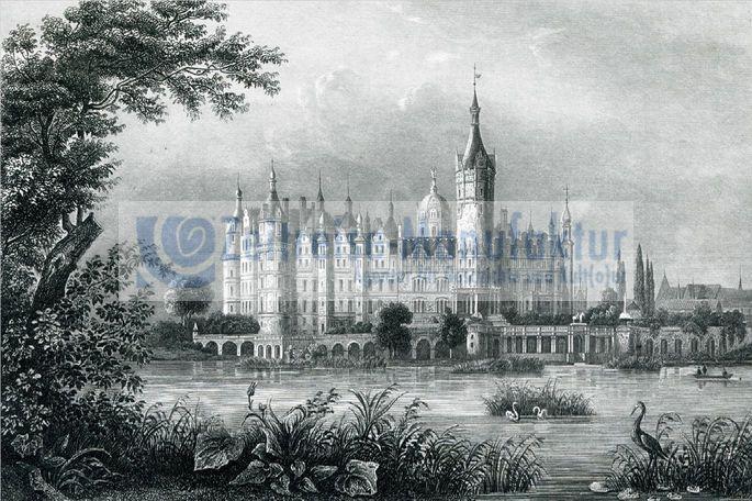 Schwerin Schloss mit Schweriner See